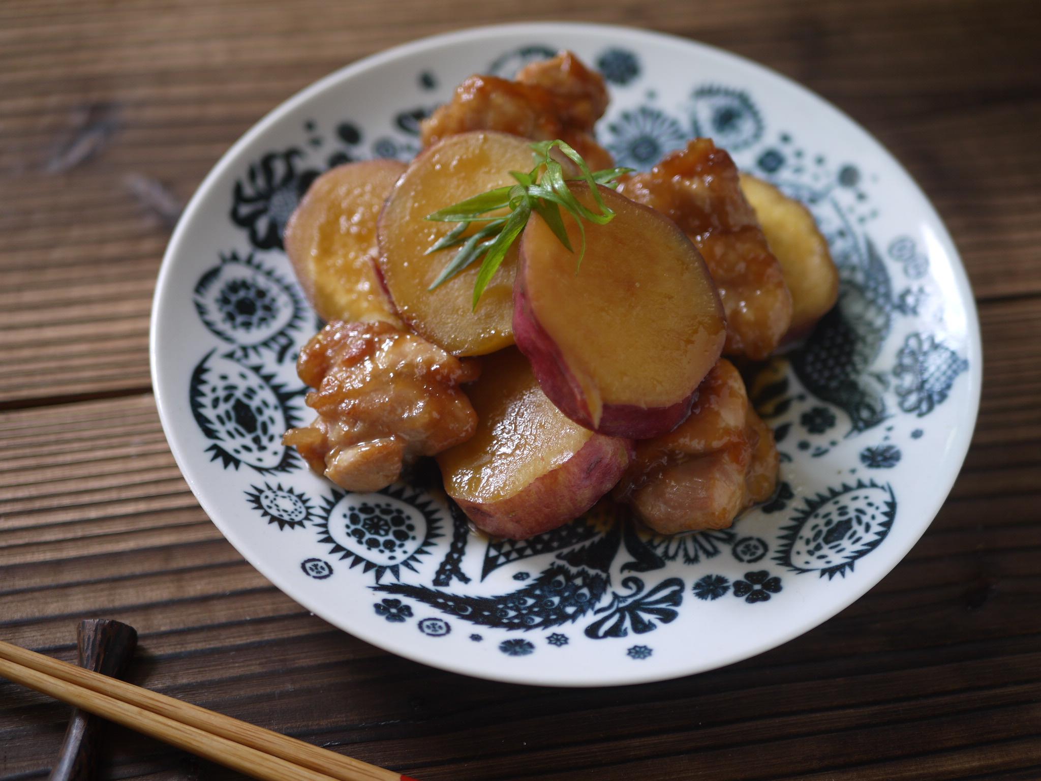 有機さつま芋と鶏肉のこっくり煮